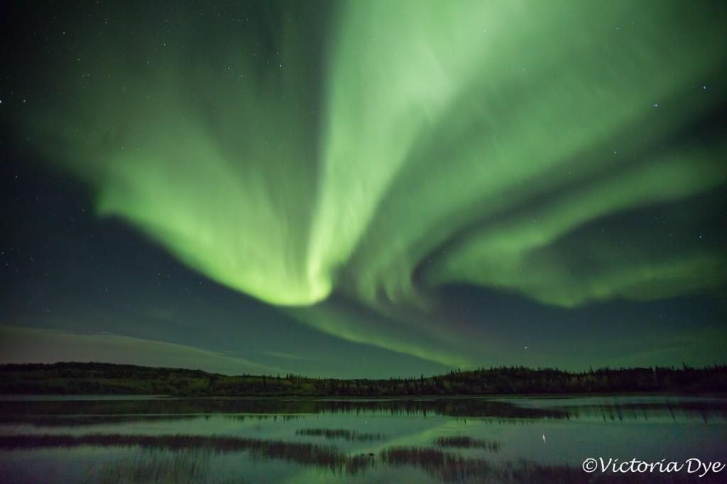 Aurora dances over Prosperous Lake