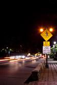 Pedestrian Crossing at night